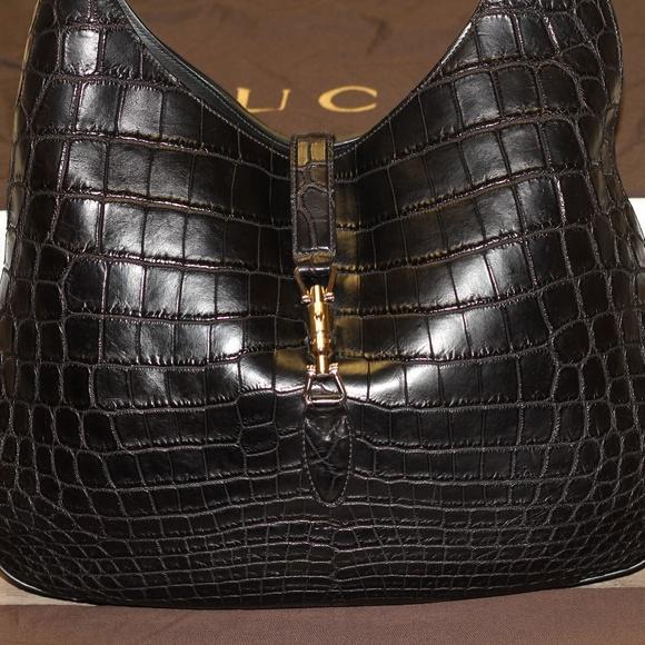 54ffadcef Gucci Bags | Crocodile Jackie Hobo | Poshmark
